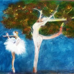 La ballerina e l'albero 2014-Acr-30H40L